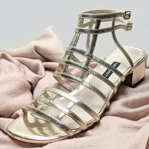 Low Gladiator Block Heel Sandals